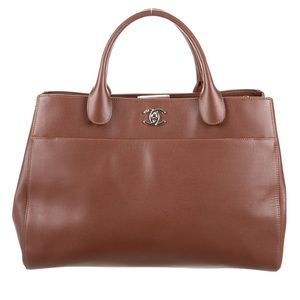 NEW Chanel Executive Cerf Shopping Tote in Brown